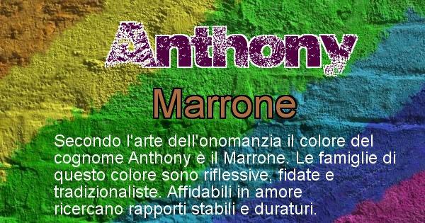 Anthony - Scopri il colore associato al Cognome Anthony