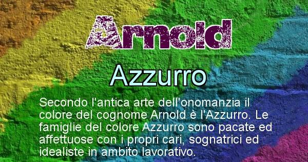 Arnold - Scopri il colore associato al Cognome Arnold