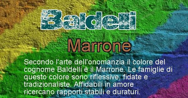 Baldelli - Scopri il colore associato al Cognome Baldelli