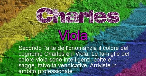 Charles - Scopri il colore associato al Cognome Charles
