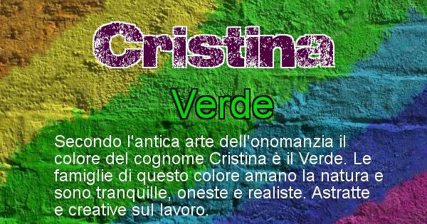 Cristina - Scopri il colore associato al Cognome Cristina