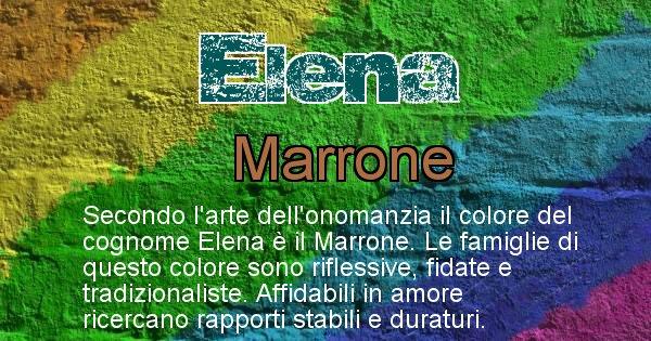 Elena - Scopri il colore associato al Cognome Elena