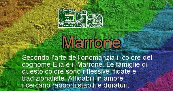 Elia - Scopri il colore associato al Cognome Elia