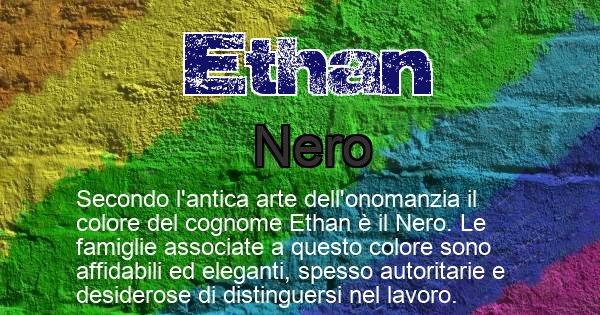 Ethan - Scopri il colore associato al Cognome Ethan