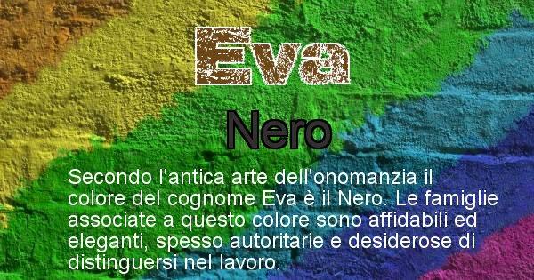 Eva - Scopri il colore associato al Cognome Eva