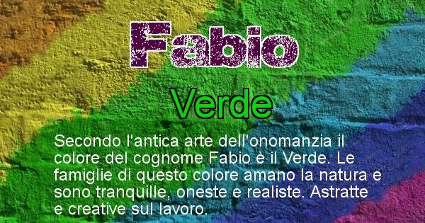 Fabio - Scopri il colore associato al Cognome Fabio