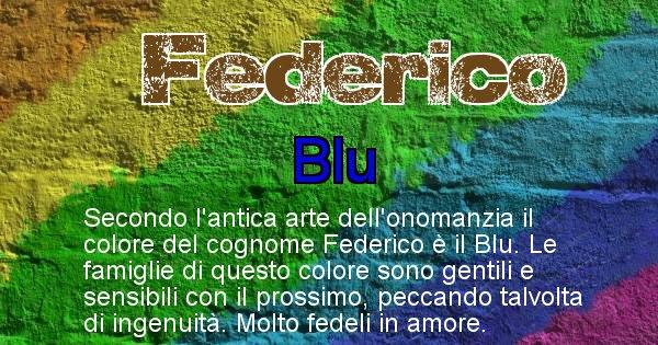 Federico - Scopri il colore associato al Cognome Federico