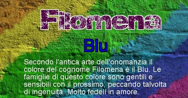 Filomena - Scopri il colore associato al Cognome Filomena