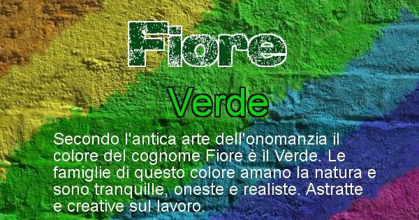 Fiore - Scopri il colore associato al Cognome Fiore