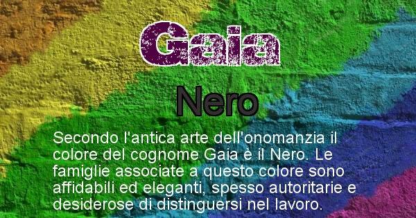 Gaia - Scopri il colore associato al Cognome Gaia