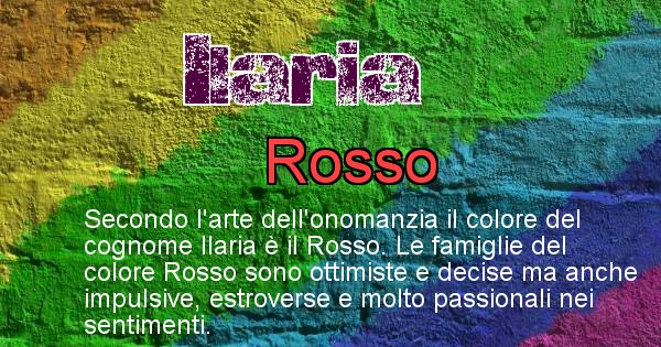Ilaria - Scopri il colore associato al Cognome Ilaria