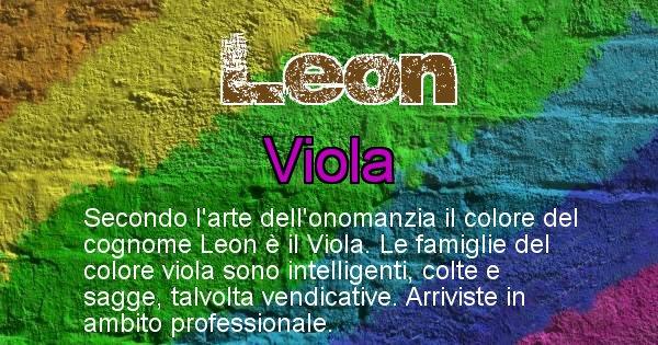 Leon - Scopri il colore associato al Cognome Leon