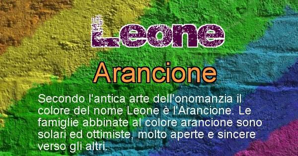 Leone - Scopri il colore associato al Cognome Leone
