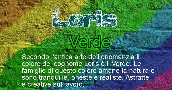 Loris - Scopri il colore associato al Cognome Loris