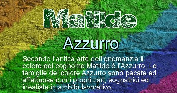 Matilde - Scopri il colore associato al Cognome Matilde