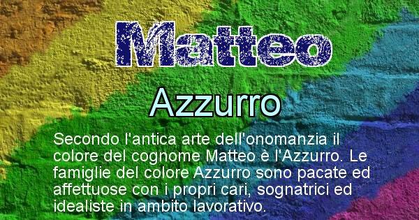 Matteo - Scopri il colore associato al Cognome Matteo