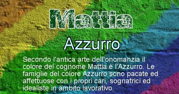 Mattia - Scopri il colore associato al Cognome Mattia