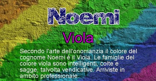 Noemi - Scopri il colore associato al Cognome Noemi