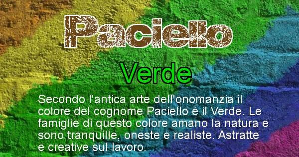 Paciello - Scopri il colore associato al Cognome Paciello