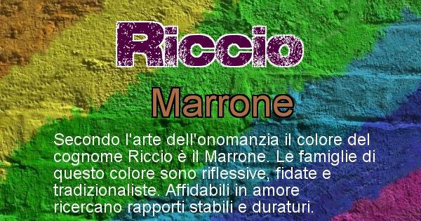 Riccio - Scopri il colore associato al Cognome Riccio