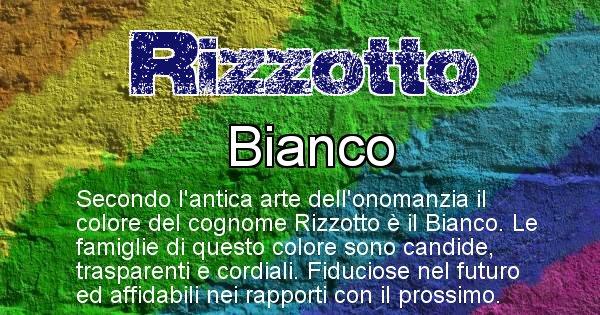 Rizzotto - Scopri il colore associato al Cognome Rizzotto
