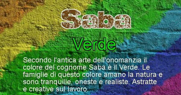 Saba - Scopri il colore associato al Cognome Saba