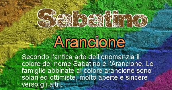 Sabatino - Scopri il colore associato al Cognome Sabatino