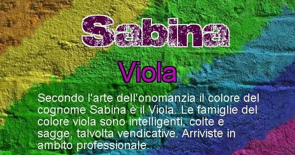 Sabina - Scopri il colore associato al Cognome Sabina