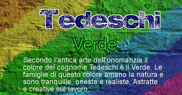 Tedeschi - Scopri il colore associato al Cognome Tedeschi