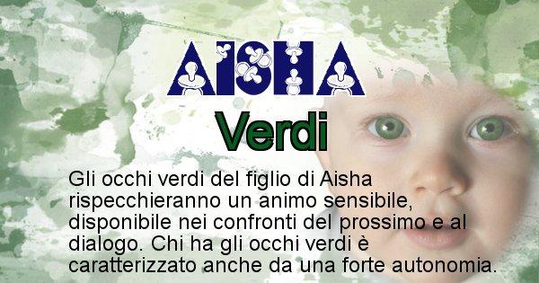 Aisha - Colore degli occhi per il figlio di Aisha