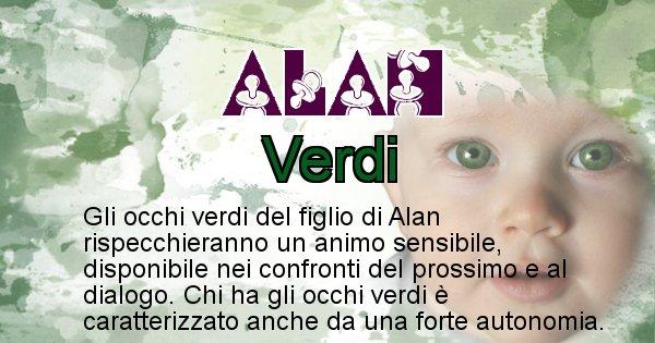 Alan - Colore degli occhi per il figlio di Alan