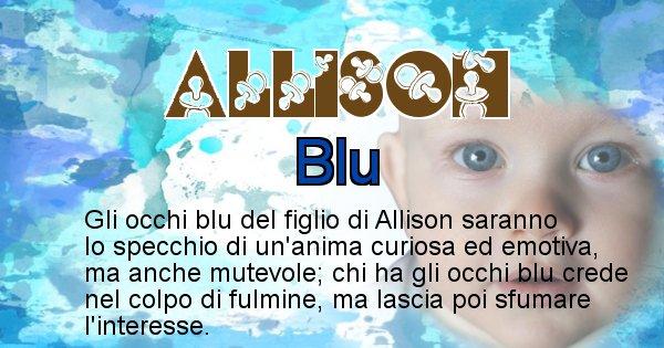 Allison - Colore degli occhi per il figlio di Allison