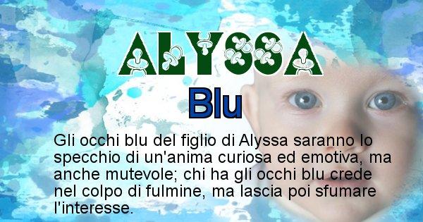 Alyssa - Colore degli occhi per il figlio di Alyssa