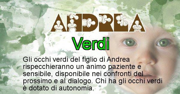 Andrea - Colore degli occhi per il figlio di Andrea