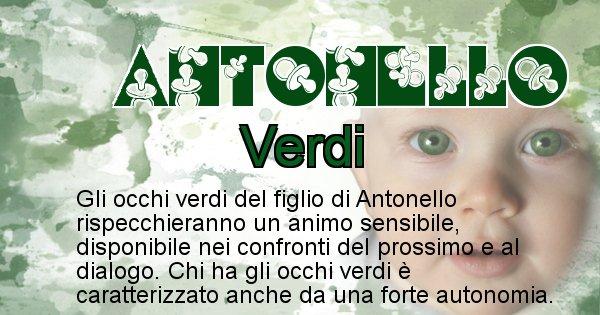 Antonello - Colore degli occhi per il figlio di Antonello