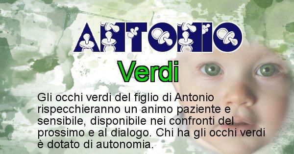 Antonio - Colore degli occhi per il figlio di Antonio