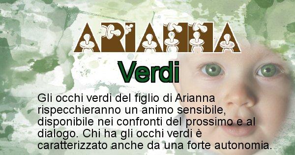 Arianna - Colore degli occhi per il figlio di Arianna