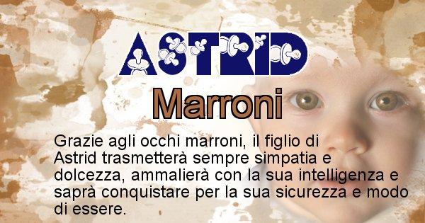 Astrid - Colore degli occhi per il figlio di Astrid