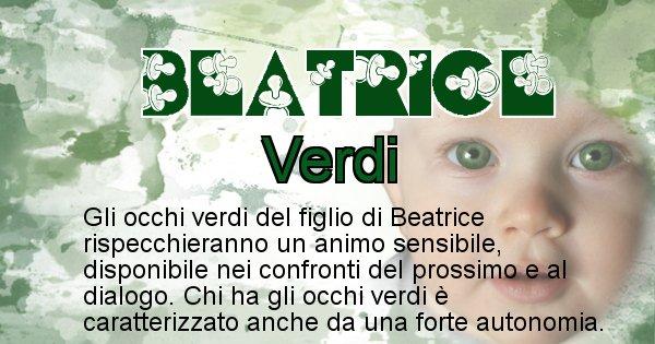 Beatrice - Colore degli occhi per il figlio di Beatrice