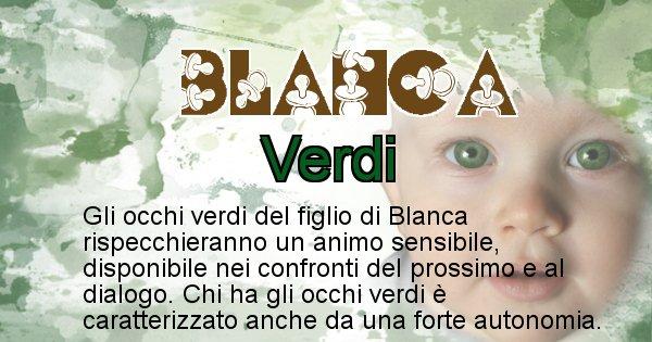 Blanca - Colore degli occhi per il figlio di Blanca