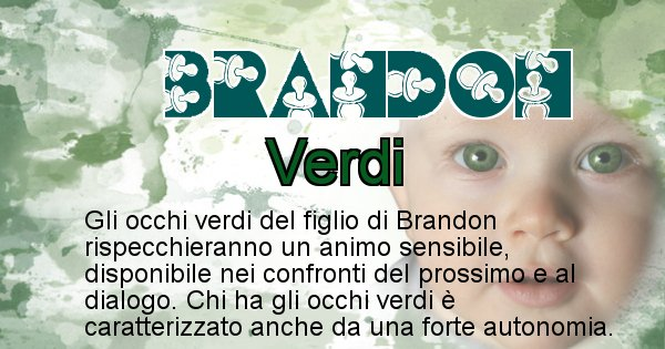 Brandon - Colore degli occhi per il figlio di Brandon