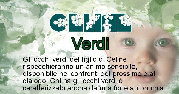 Celine - Colore degli occhi per il figlio di Celine