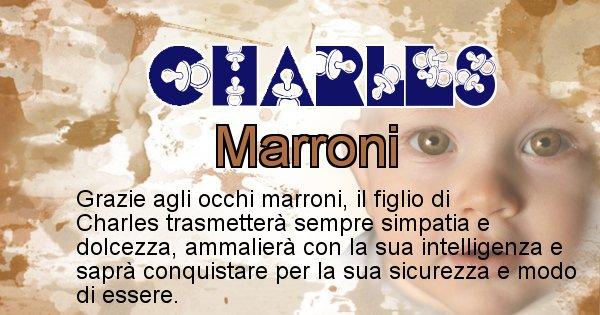 Charles - Colore degli occhi per il figlio di Charles