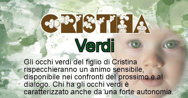 Cristina - Colore degli occhi per il figlio di Cristina
