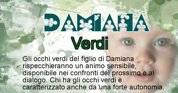 Damiana - Colore degli occhi per il figlio di Damiana