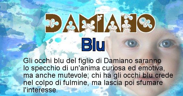 Damiano - Colore degli occhi per il figlio di Damiano