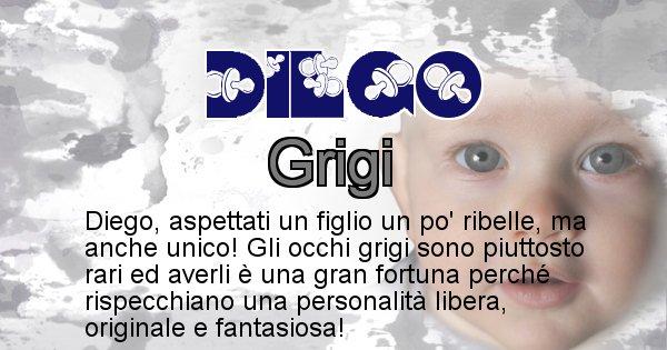 Diego - Colore degli occhi per il figlio di Diego