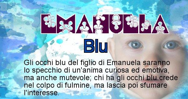 Emanuela - Colore degli occhi per il figlio di Emanuela
