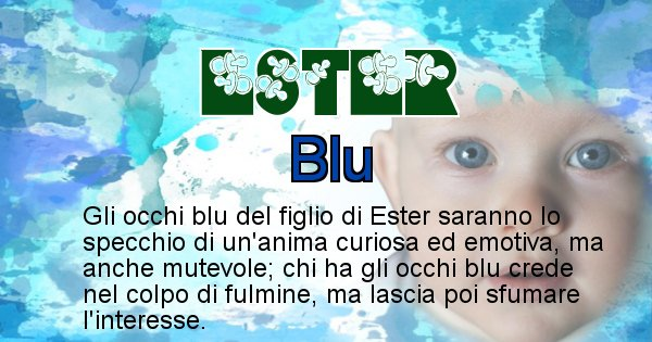Ester - Colore degli occhi per il figlio di Ester