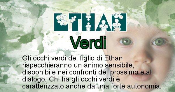 Ethan - Colore degli occhi per il figlio di Ethan